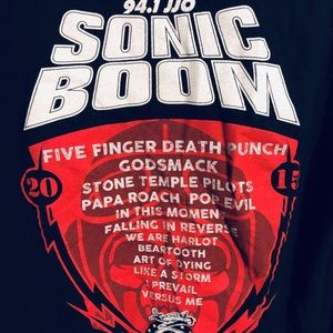 JJO SONIC BOOM 2015 ladies concert v-neck t-shirt